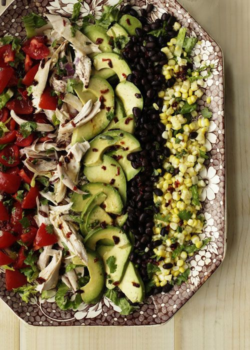 MEXICAN COBB SALAD WITH CHIPOTLE-HERB DRESSING   http://www.countryhome.com/recipes/everydaycooking/salads_5.html#