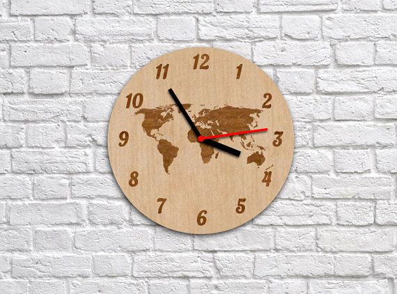 8 best images about world map clocks on pinterest stencil mirrors world map clockhome decorchildren clockclock with gumiabroncs