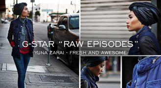 """G-STAR ""RAW EPISODES"" - YUNA ZARAI""  http://www.denimfuture.com/read-journal/g-star-raw-episodes---yuna-zarai"