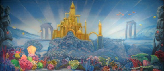 Underwater Mermaid Castle Undersea Castle | Thea...