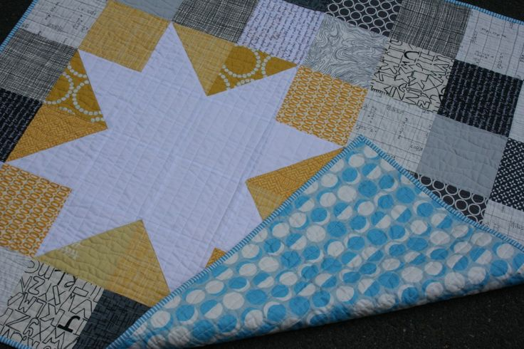 Love the quilting. Love the colors..so great. Finished Quilts: Star Bright Quilt
