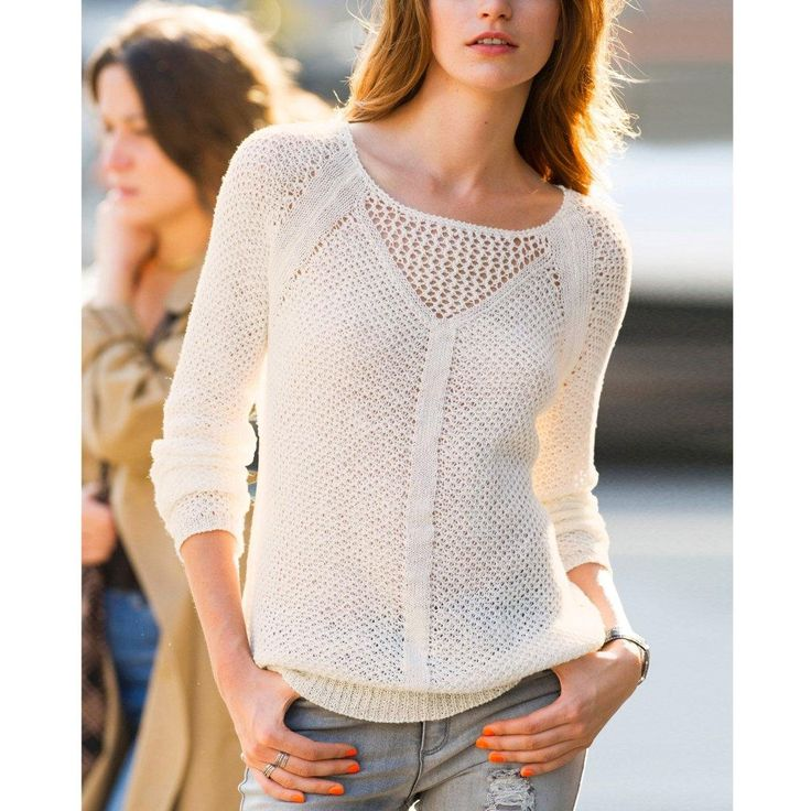 Pull manches longues pur lin Soft Grey | La Redoute