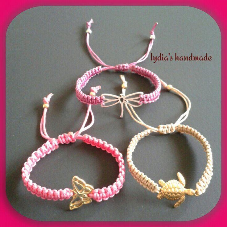 Βραχιολάκια για κοριτσάκια, μακραμέ, σε όμορφα χαριτωμένα σχέδια και χρώματα!