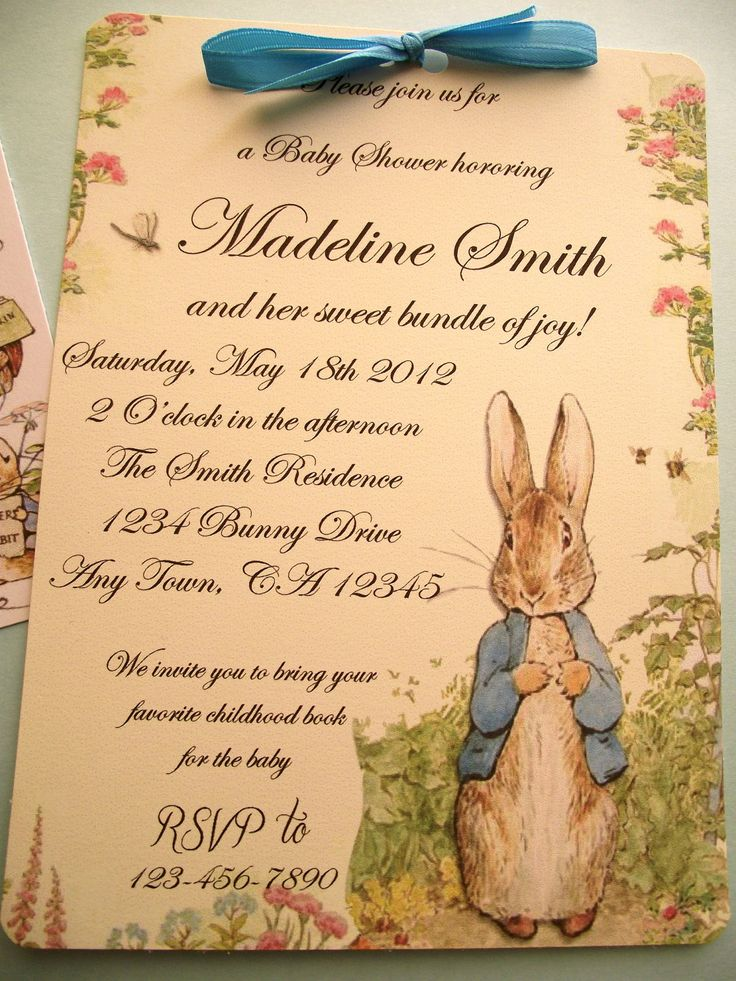 Peter Rabbit Vintage Style Baby Shower Or Birthday Party Invitation Book  Shower
