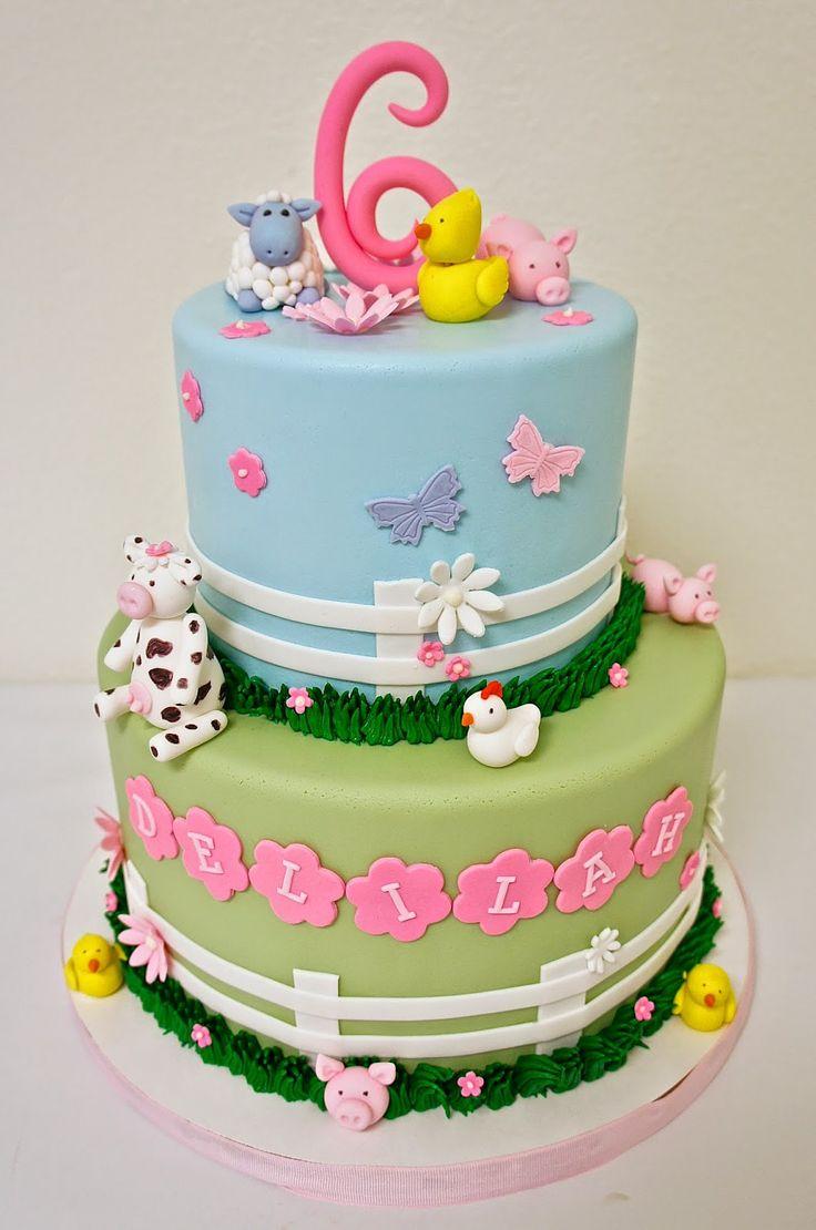 #girly #barn #farm #cake Half Baked Co.