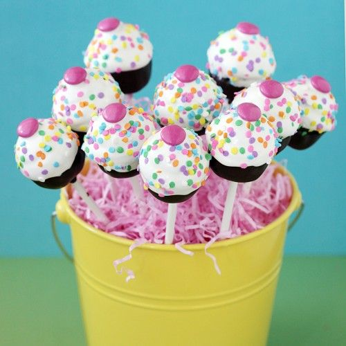 "Oreo ""cake pops"" using the My Little Cupcake Cake Pop Mold."