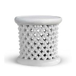 'Kano Stool/Side Table, White