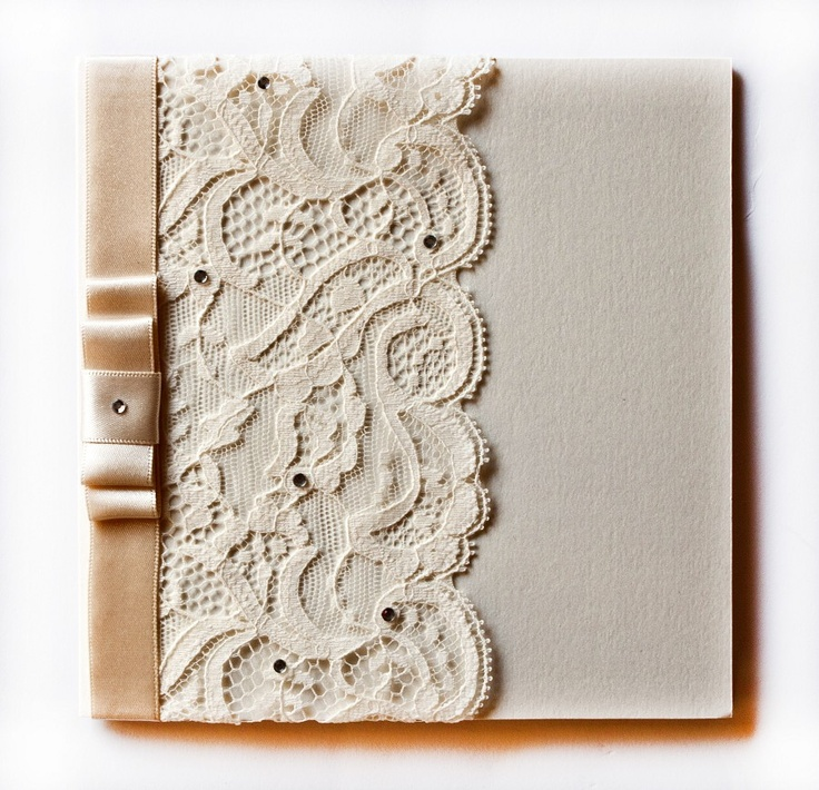 Lace Booklet Wedding Invitation
