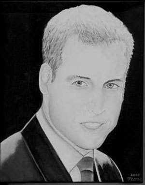 Prince William, Original Acrylic Portrait Painting. $100.00, via Etsy.