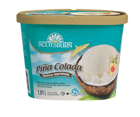 #scotsburn #icecream #tropical #pinacolada