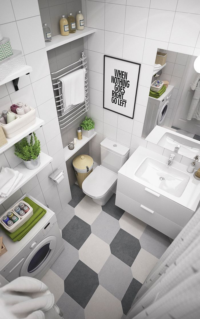 IKEA style. Hall and bathroom on Behance