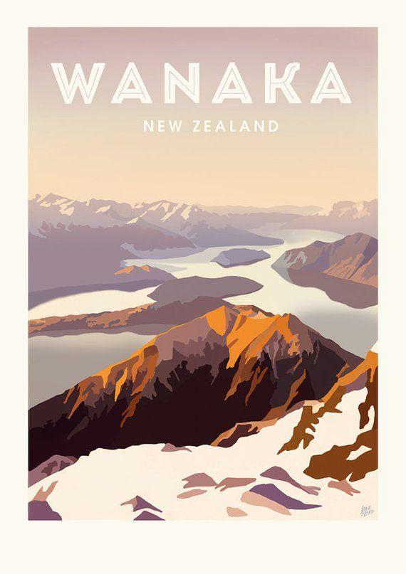 Roy S Peak Travel Poster Etsy Travel Posters Retro Travel Poster Travel Poster Design