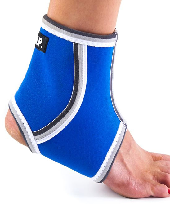 Blue Breathable Lightweight Neoprene Ankle Compression Sleeve