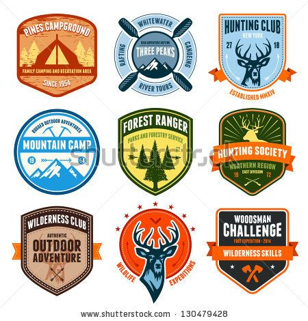 stock-photo-set-of-outdoor-adventure-badges-and-hunting-emblems-130479428.jpg (450×470)