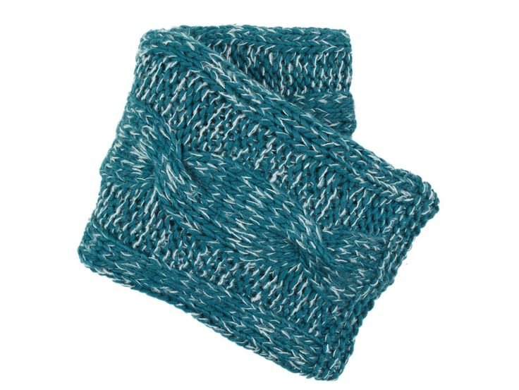 Cable Knit Turquoise Throw