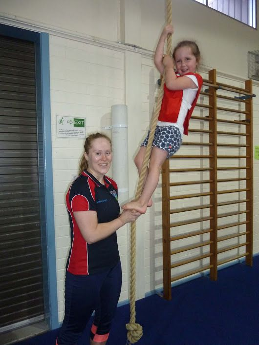 Seacliff Pre-Gym (age 4 - 5 yrs) provides an opportunity for children to develop physical skills in a fun environment at their own rate.