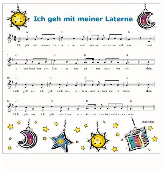 """Ich geh mit meiner Laterne"" - German song which is sung each year the 11th November (St. Martin's Day)"