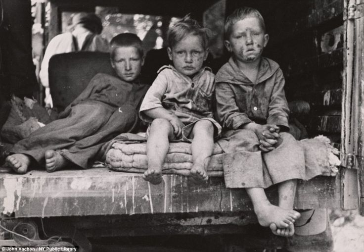 Children of migrant fruit worker in Berrien County, Michigan - Great Depression 1930s Farm Security Administration at the New York Public Library