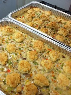 Cook chicken pot pie like this to feed a crowd of 20. Need to try this using my recipe.