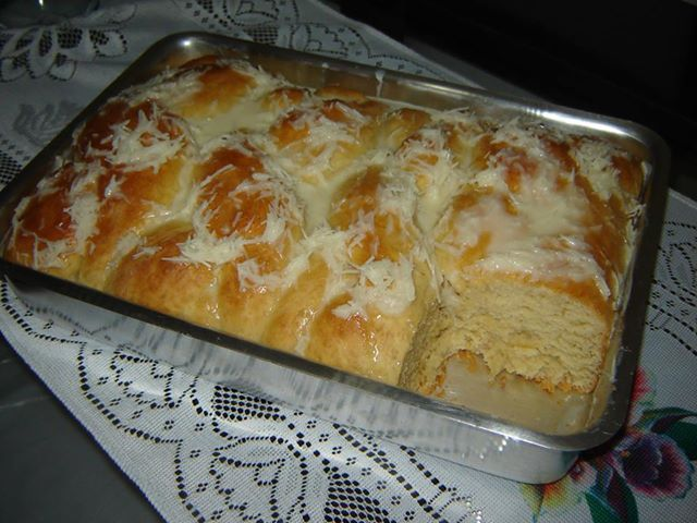 Pão doce de leite condensado de liquidificador
