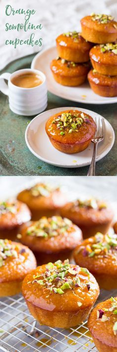 orange semolina cupcakes                                                                                                                                                      More