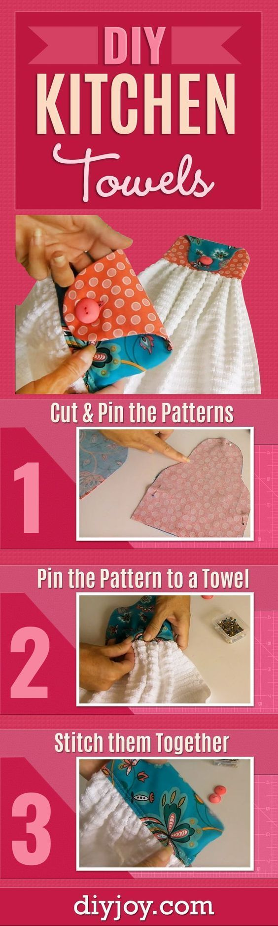 DIY Kitchen Towels – Cute and Easy Sewing Project that Makes a Cool DIY Christma…