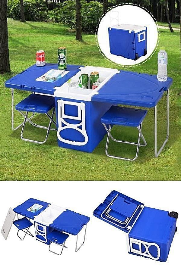 Yard Indoor Outdoor Folding Camping Picnic Dining Table 2 Chairs Set Blue New Dealstoday Camping Projects Camping Picnic Purple Kitchen Decor