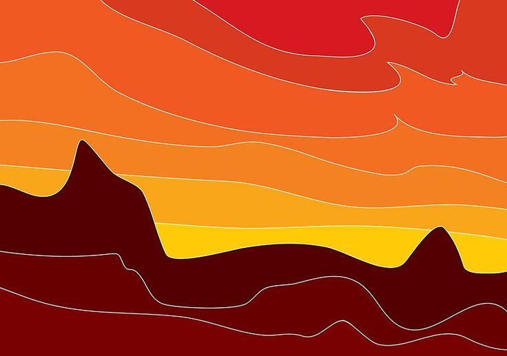 Arid abstract print