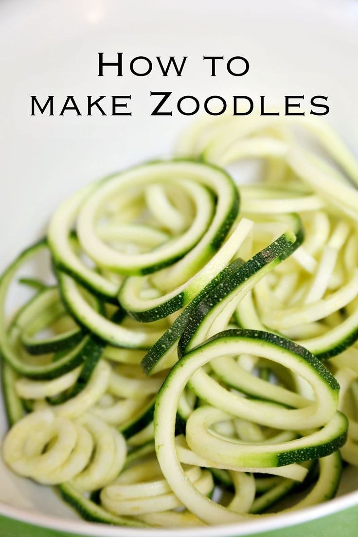 """How to make delicious """"zoodles"""" or Zucchini Noodles! A fantastic replacement for pasta! - Click for recipe - www.classyclutter.net #eatclean #whole30 #paleo #healthy #dinnerideas"""