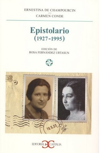Ernestina de Champourcin y Carmen Conde en forma de sello.