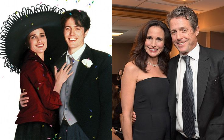 There was a mini 'Four Weddings and a Funeral' reunion in Los Angeles overnight as co-stars Andie MacDowell and Hugh Grant appeared on stage together at the Hollywood Film Awards in West Hollywood, California.  Andie MacDowell, who played Hugh Grant'sstar-crossed lover in Richard Curtis' seminal 1994