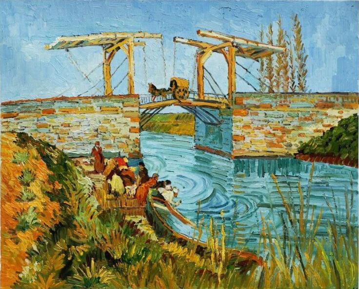 Van Gogh Burg te Arles, Pont de Langlois Arles 1888 ...