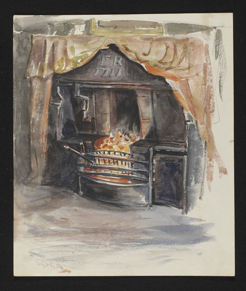 Fireplace, near Swinside, Keswick by Beatrix Potter, 1904. l Victoria and Albert Museum