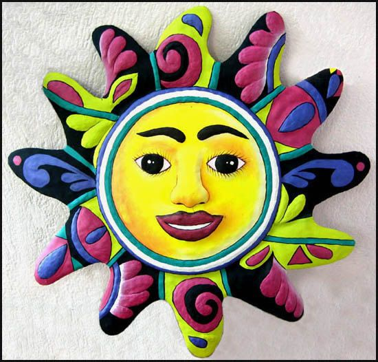 18 best Metal Sun & Moon Wall Hangings - Sun wall art, Haitian art ...