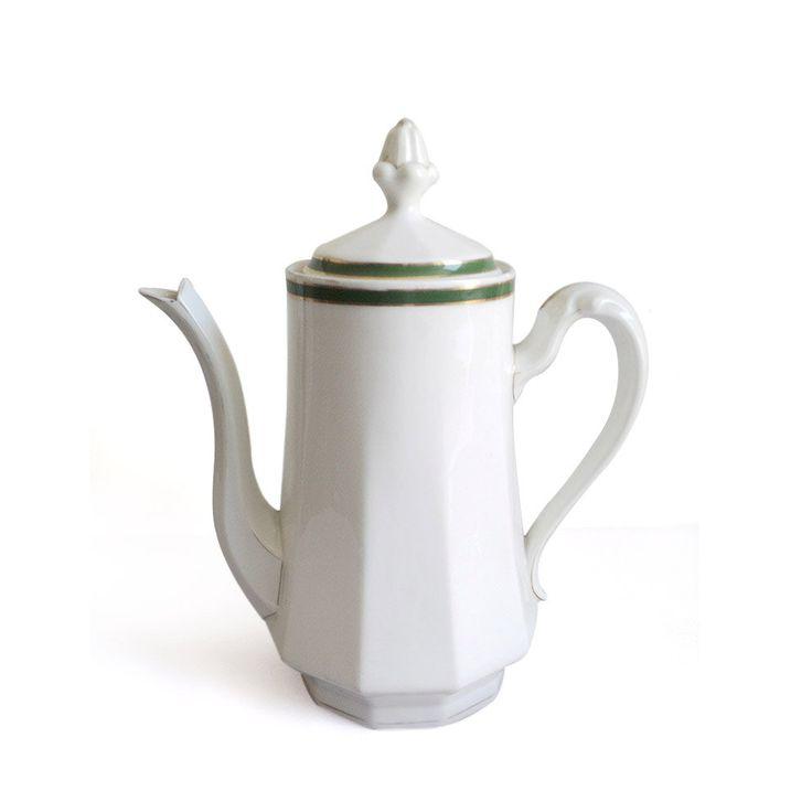 French UC Limoges Teapot, Porcelain Coffee pot, White China Bone Tea Maker, White Coffee Maker, Large Coffee Pot Teapot,