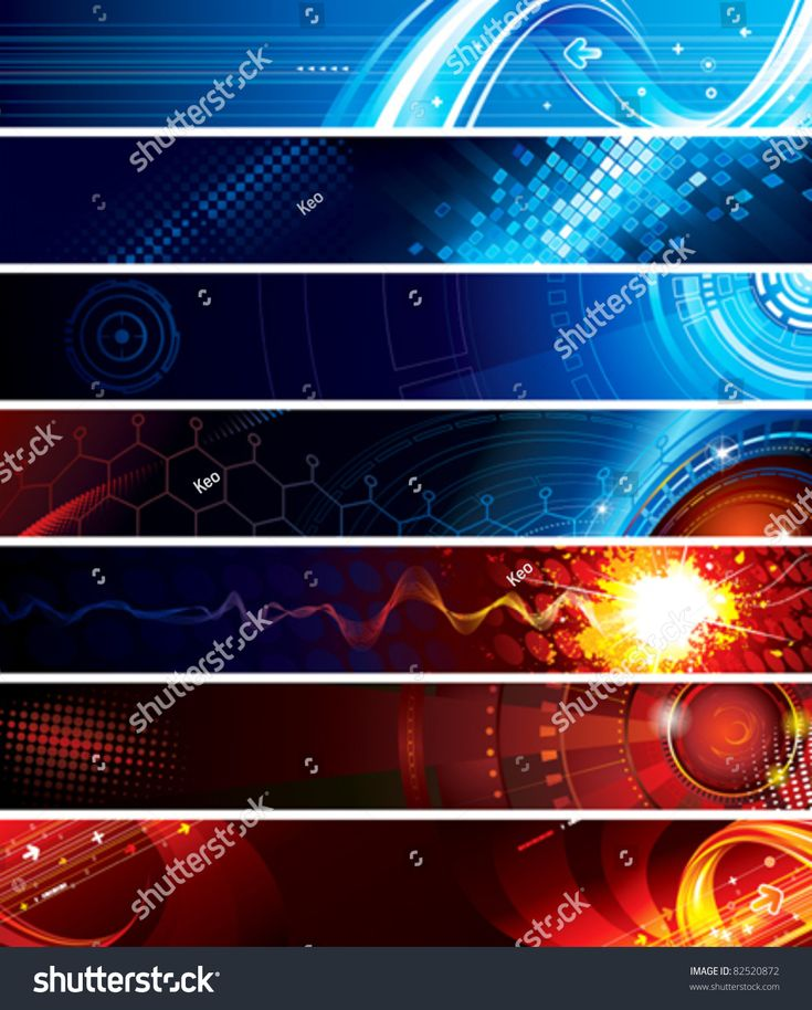 Set of abstract technology web banner. #Sponsored , #affiliate, #abstract#Set#technology#banner