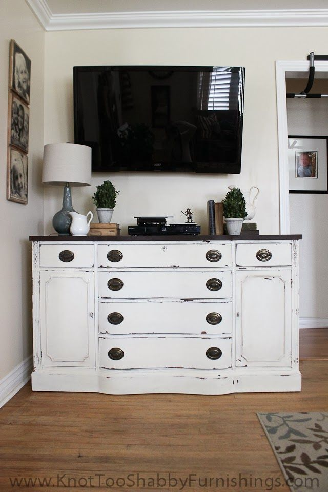 Antique Buffet and Miss Mustard Seed's Linen and Curio