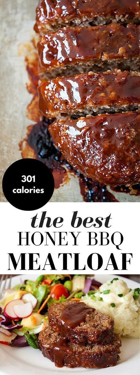Honey Barbecue Meatloaf Recipe! This meatloaf recipe is made with bbq sauce and honey for added smokiness, a little sweetness, and moisture. - note: sub almond flour