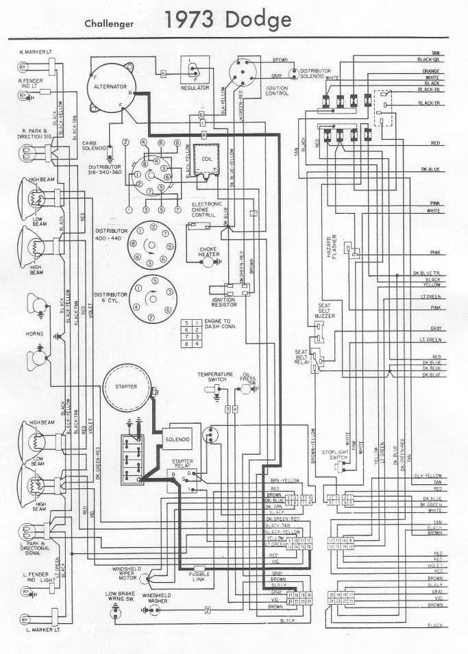 16 73 Challenger Engine Wiring Diagram Engine Diagram Wiringg Net Electrical Diagram Diagram Trailer Wiring Diagram