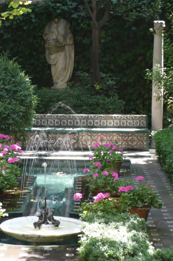 Garden at the Museo Sorolla, originally the painters house it takes as inspiration the tranquility of the Moorish gardens of the Generalife  ...