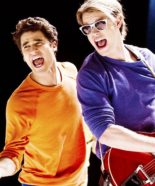 Darren Criss and Chord Overstreet.