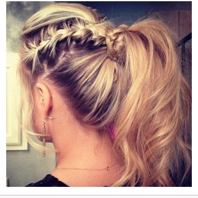 pretty: French Braids, Hairstyles, Braids Ponies, Makeup, Long Hair, Beautiful, Braids Ponytail, Hair Style, Ponies Tail