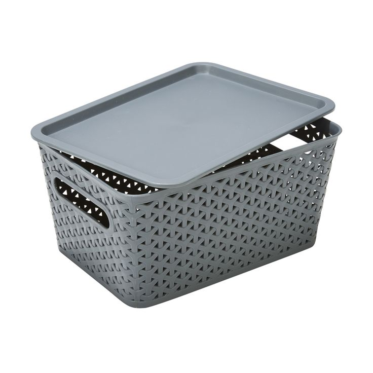 small Container Grey homemaker Woven Look