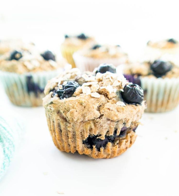 Blueberry Banana Power Muffins. Vegan, gluten free, oil free. Wholesome, heart healthy breakfast muffins with hemp seeds. Free from refined sugars & tasty!