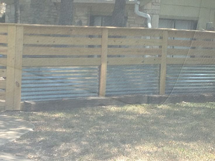 Cool Wood And Corrugated Tin Fence How Does Your Garden