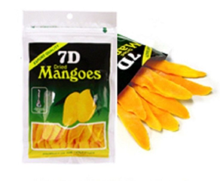 Lot of 6~Dried Mangoes~7D The Worlds Favorite Dried Mango Brand~Fat Free Snacks #7D