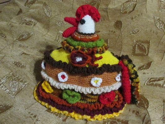 """Кухня ручной работы. Ярмарка Мастеров - ручная работа. Купить Грелка на чайник вязаная крючком """"Петушок - красный гребешок"""" - 2. Handmade."""