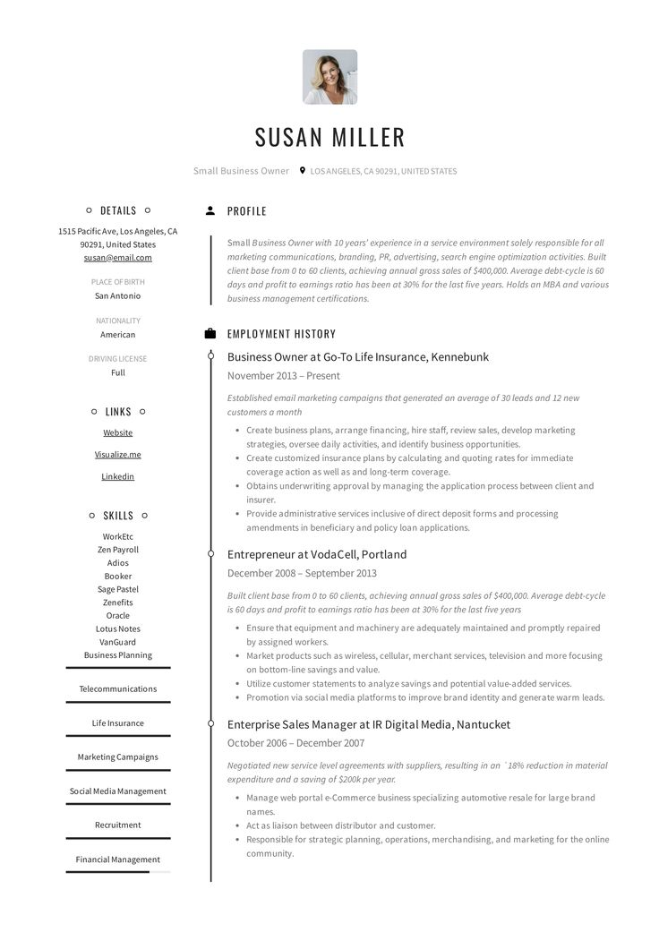 Small business owner resume example in 2020 resume guide