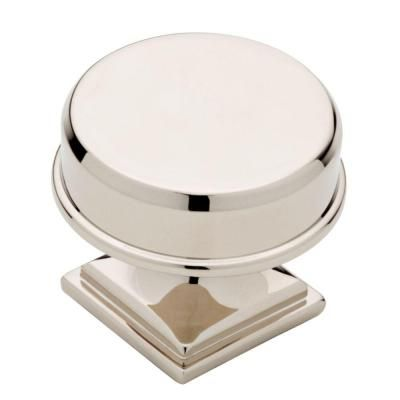polished nickel round elegant cabinet knobp32942c
