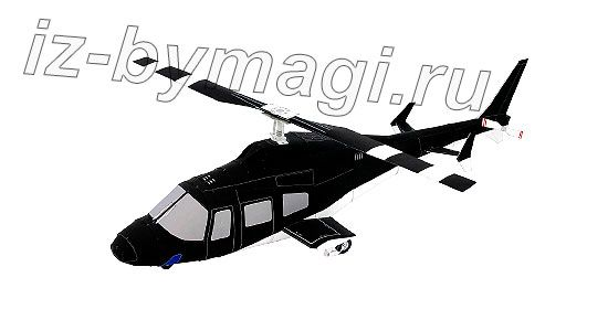 Модель вертолета из бумаги